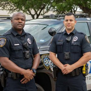 Police officers protect and serve