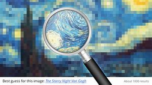 Reverse image search of Starry NIght
